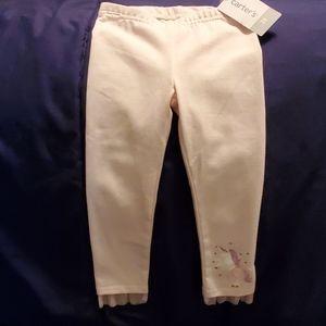 Carter's unicorn leggings size 2t nwts